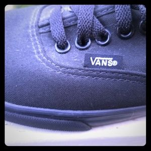 Vans black never worn